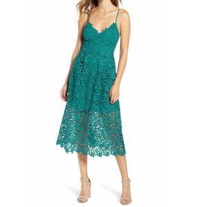 ASTR Grene Lace Layer Midi Dress